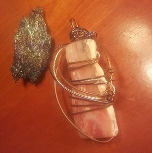 Jewelry - Wire wrapped rhodocrosite